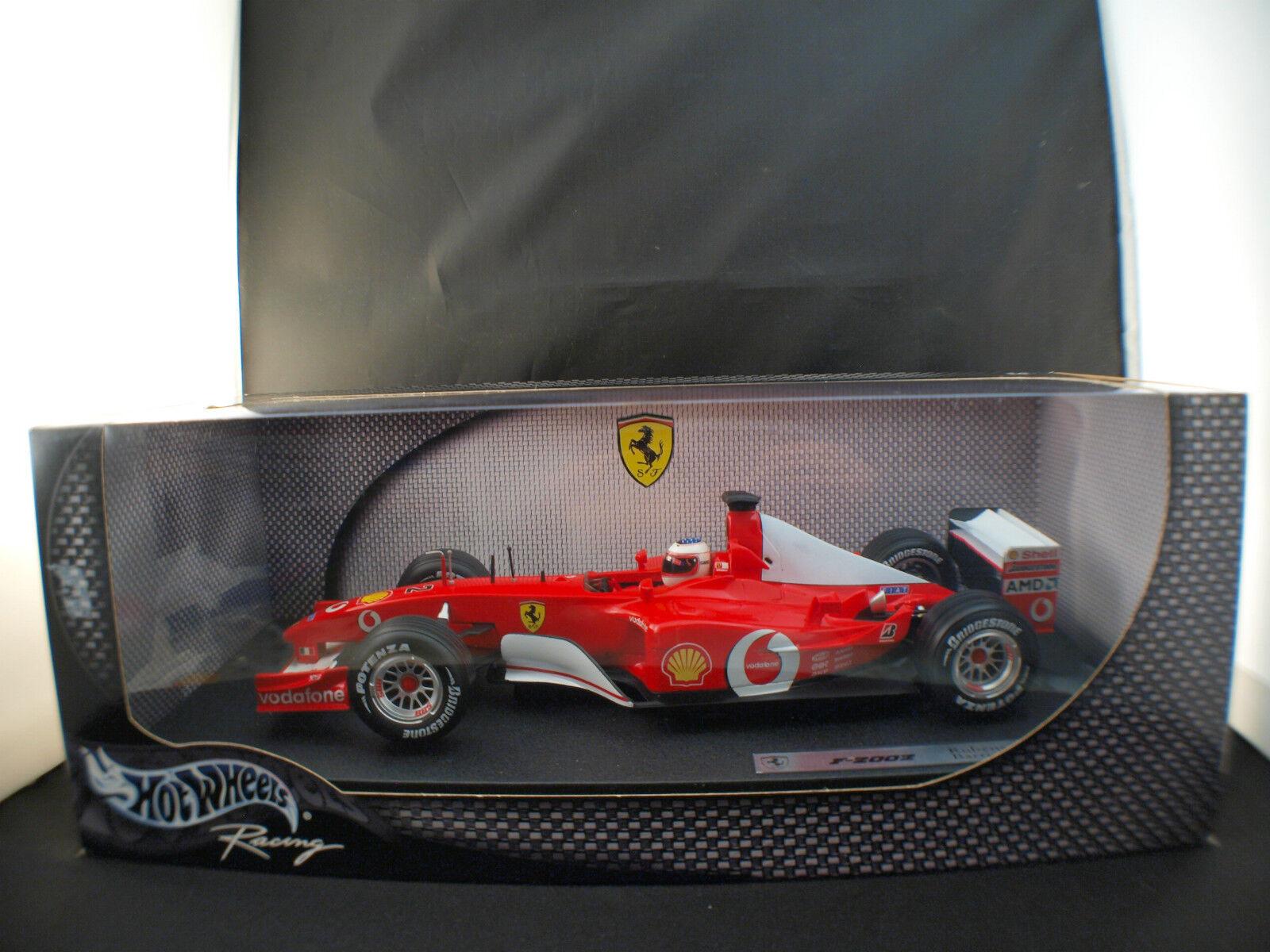 Hot Wheels n° 54627 ferrari F1 2002 Rubens Barrichello neuf 1 18 en boite MIB