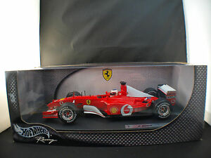 Hot-Wheels-n-54627-ferrari-F1-2002-Rubens-Barrichello-neuf-1-18-en-boite-MIB