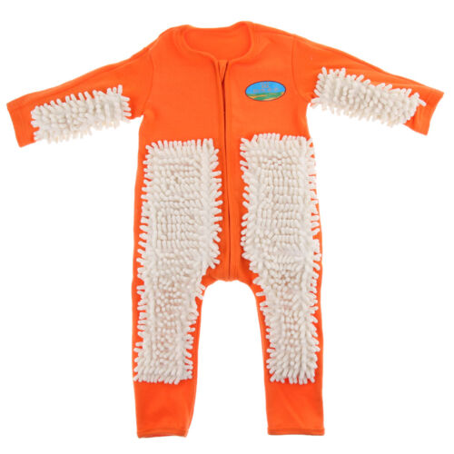 Baby Mop Romper For Boy Girl Clothes Crawling Jumpsuit Infant Cleaning Mop Suit