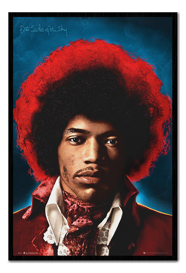 Jimi Hendrix Both Sides Of The Sky Framed Cork Pin Board With Pins