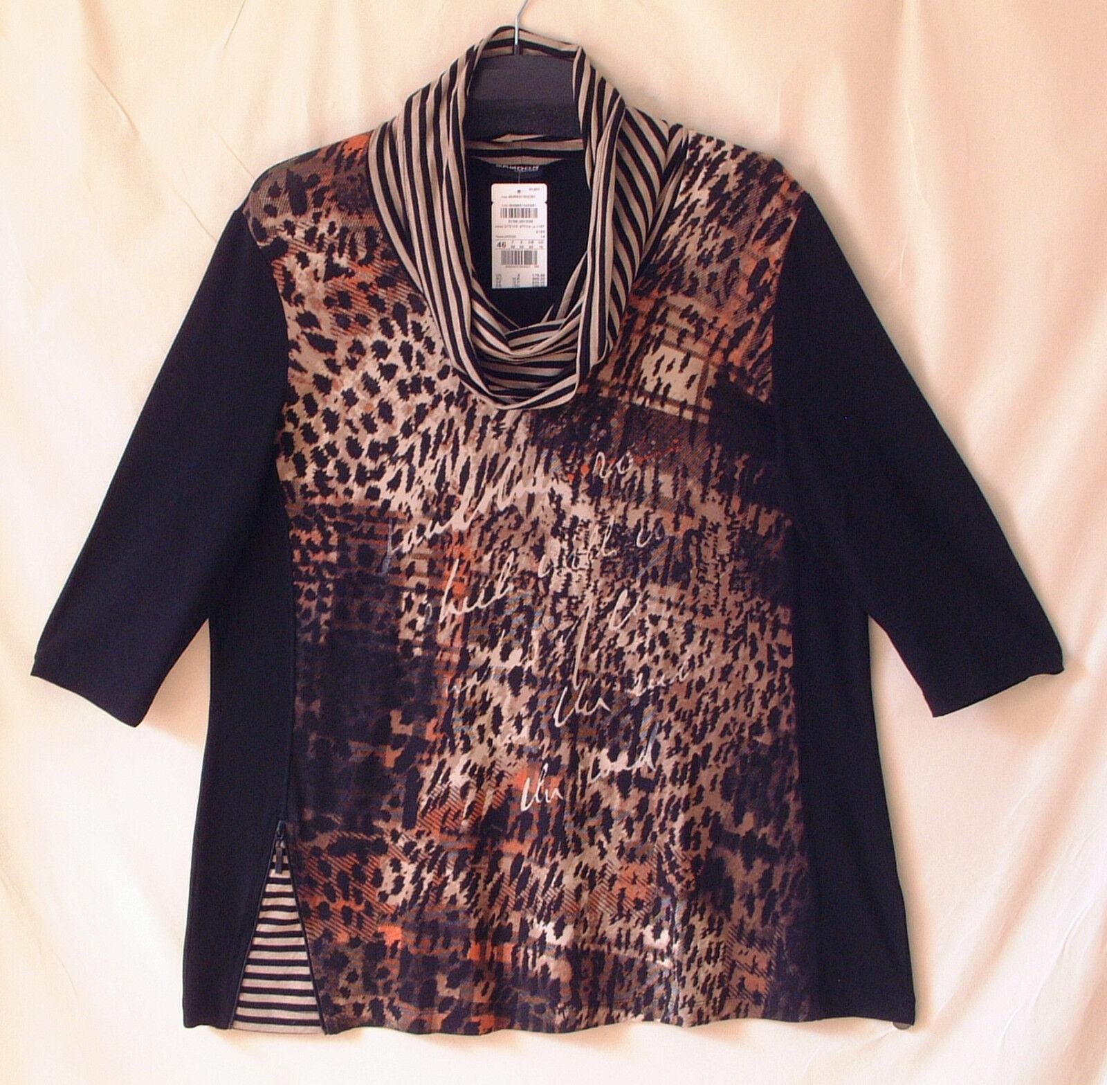 Samoon Shirt by Gerry Weber Longshirt Jersey Stretch Longstyle Neu Damen Gr.52