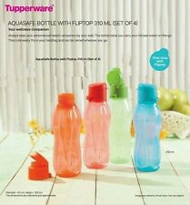 Tupperware Aquasafe Fliptop Water Bottle 310 ml (4 pc)