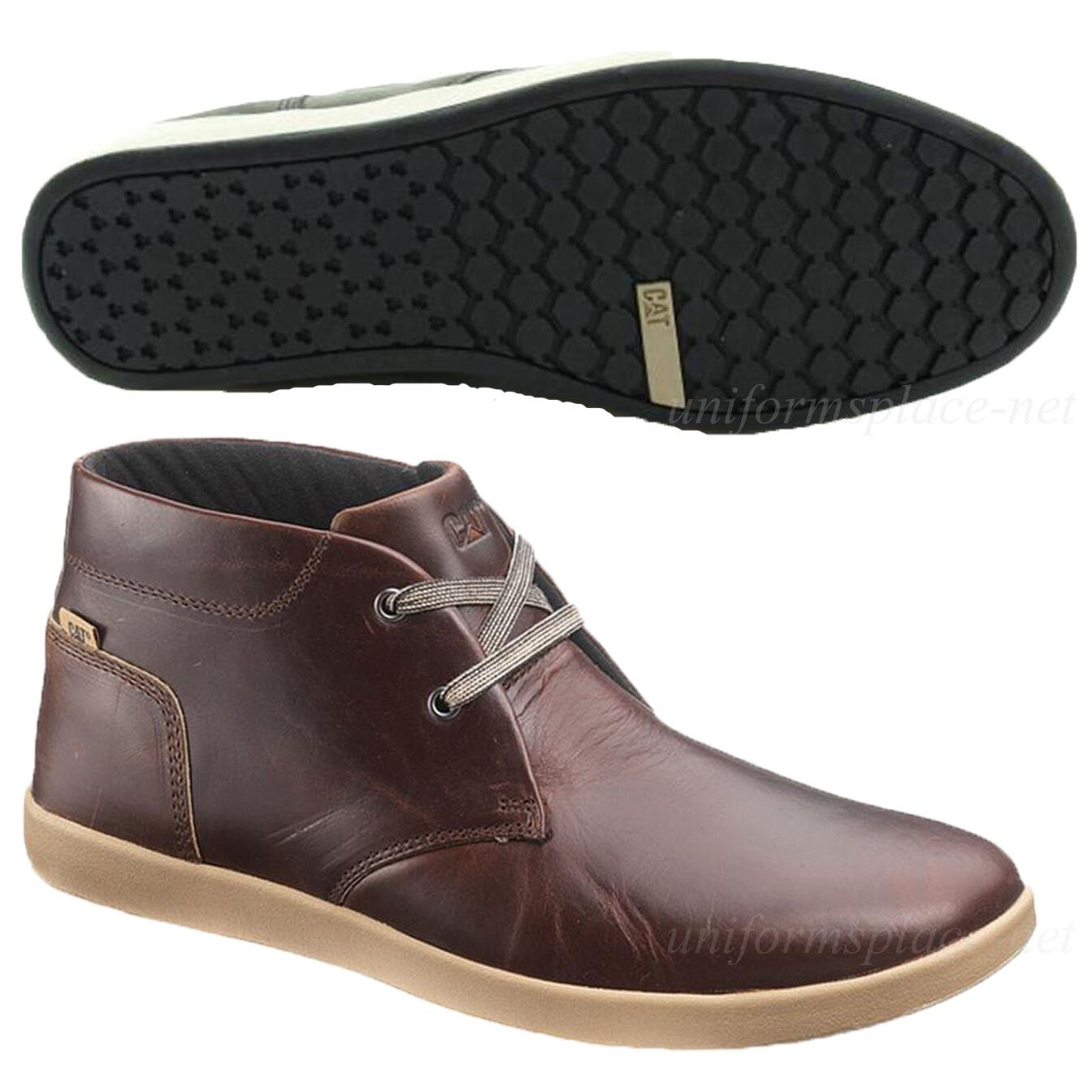 Caterpillar Shoes Mens Mid Beck Mid Mens Leather Work Dress Casual Shoes CAT Gray Oxblood 9f6cf5