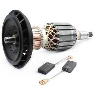 Anker-Rotor-Laeufer-Kohlen-fuer-Bosch-GSH-11-E-GBH-11-DE-GSH-11-E-GBH-11DE