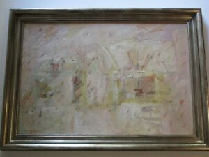"WESLEY JOHNSON 36"" PAINTING ABSTRACT  EXPRESSIONISM NON OBJECTIVE ART MODERNISM"