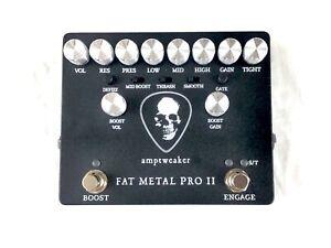 Used Amptweaker Fat Metal Pro II Distortion Preamp Guitar Effects Pedal