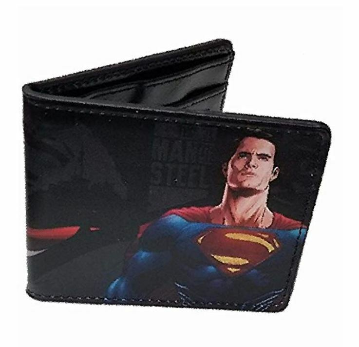 Dawn of Justice Superman and Dark Knight DC Buckle Down Bi-fold Wallet New Gift