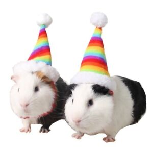 Pet-Dog-Cat-Rabbit-Hamster-Rainbow-Christmas-Hat-Small-Animal-Guinea-Pig-Costume