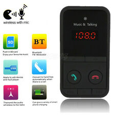 Kit Para El Coche MP3 Reproductor Bluetooth Inalámbrico Transmisor de FM USB SD