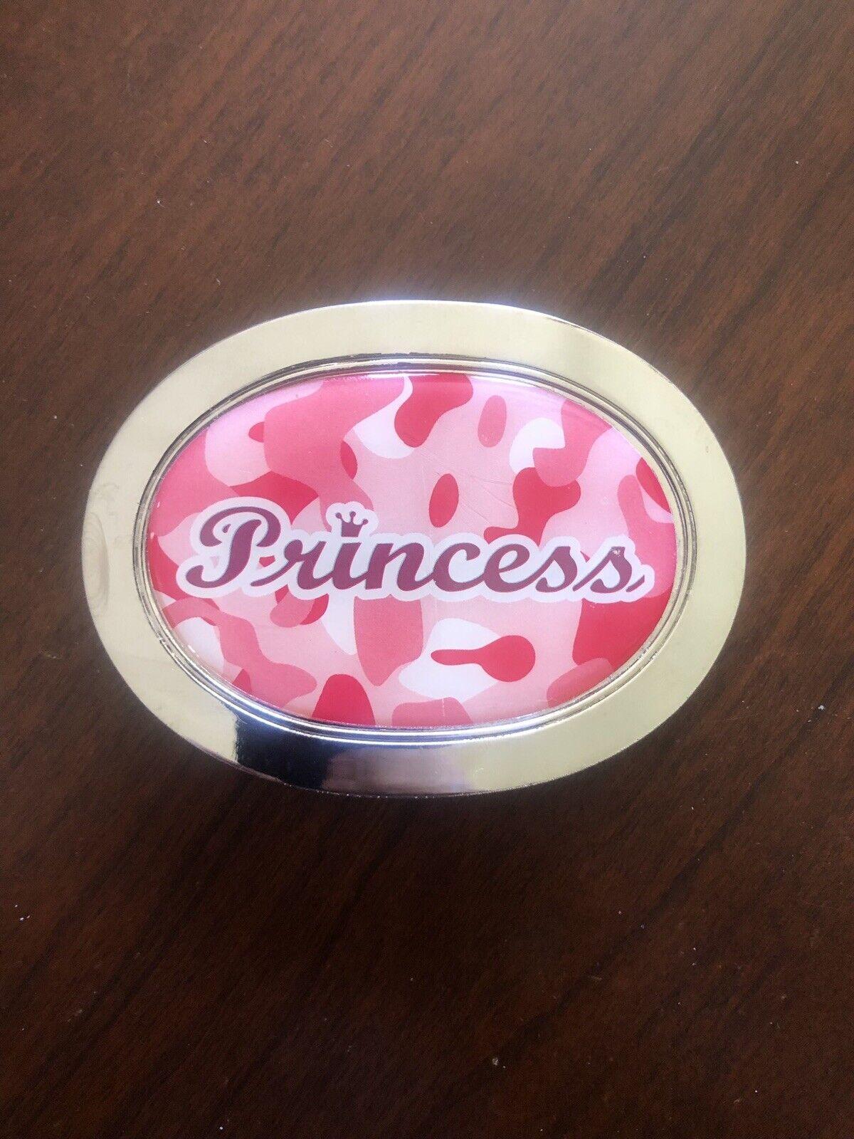 Princess Queen Royalty Pink Camouflage Camo Funny Metal Women's Belt Buckle