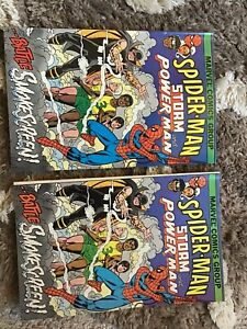 Spider-Man-Storm-And-Power-Man-1982-Marvel-Two-Lot-Set
