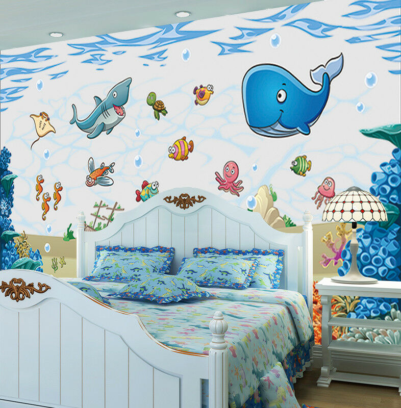 3D Fisch Ozeans Delphin 9793 Tapete Wandgemälde Tapeten Bild Familie DE Lemon