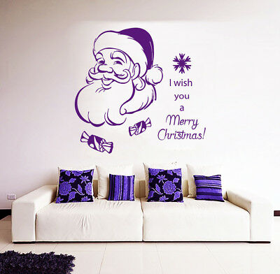 Happy New Year Wall Decal Quote Merry Christmas Vinyl ...