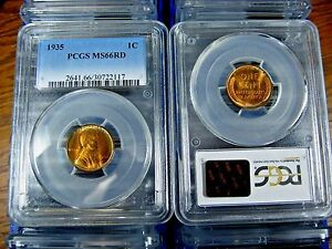 MS66RD-PCGS-Graded-1935-Lincoln-Wheat-Penny
