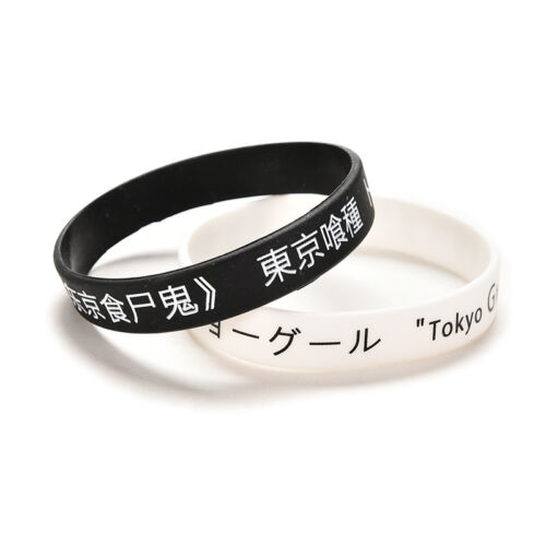 For Anime Tokyo Ghouls Silicon Wristband Black Fan Made Bracelet CYCA LL