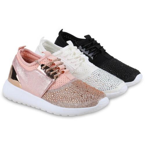 Damen Sportschuhe Lack Strass Runners Sneakers Laufschuhe 814663 Schuhe