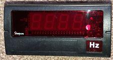 Simpson Digital Panel Frequency Meter 120vac 0 1999hz F351910 18 Din
