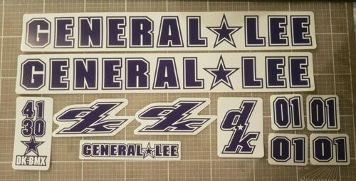 Star Gusset Mid school bmx DK General Lee decals Mk2 1998//01.