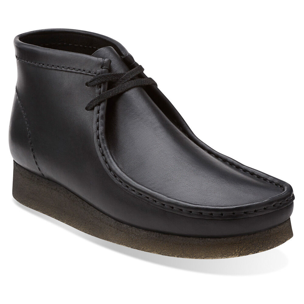 Clarks Originale Mens Wallabees Stiefel Schwarz Glatt Lea  UK 7,8, 9,11 G