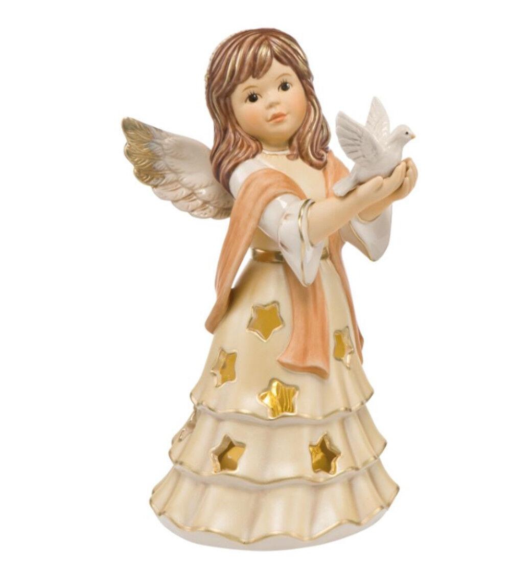 Goebel Peace Angel Champagne Novelty 2018 21 cm with LED Tealumière Sky Messenger
