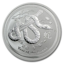 2013 2 oz Silver Australian Perth Mint Lunar Year of the Snake Coin - SKU #71338