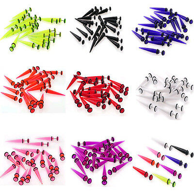 Wholesale 32pcs Fake Ear Plugs Taper Gauges Expander Stretcher Piercing Earrings
