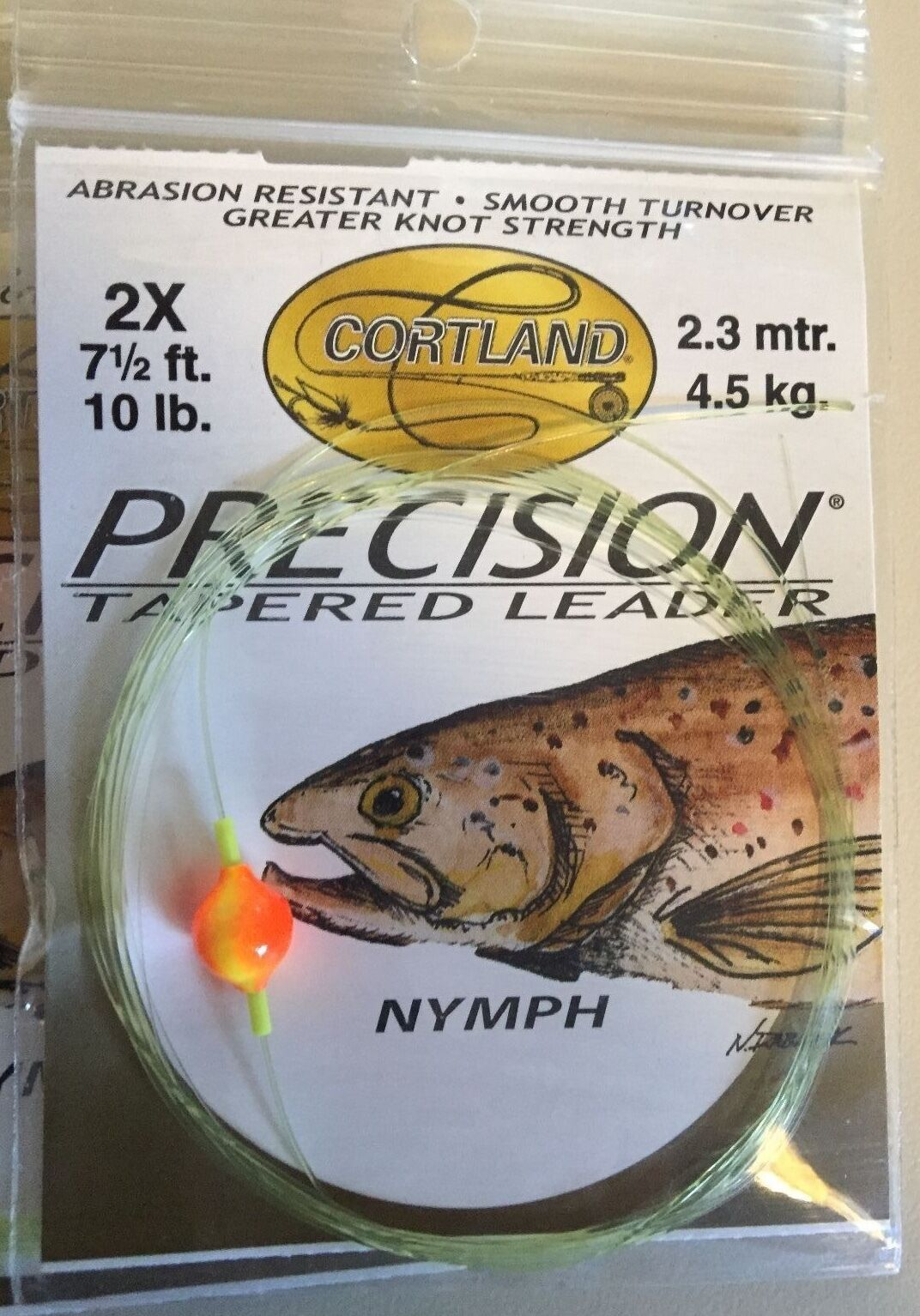 Cortland Precision Tapered Trout Nymphing Indicator Style Fly Fishing Leader
