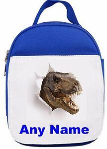 Personnalise-T-Rex-Dinosaures-Isotherme-Panier-Repas-Sandwich-Sac-Rose-Bleu-Rouge
