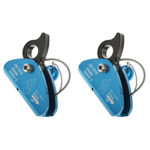 2pcs 15KN Rope Grab Carabiner for Rock Tree Carving Dowhill Rappel
