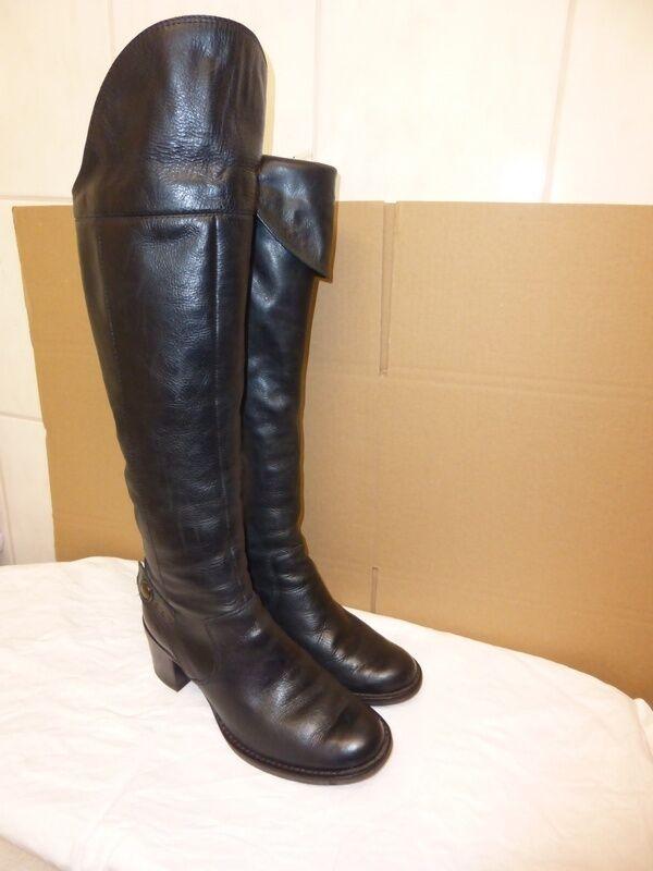 Clarks Damen Stiefel Langschaft, auch Overknee, schwarz, Gr. UK 3,5 (36,5)