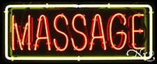 Brand New Massage 32x13 Border Real Neon Sign Withcustom Options 10167