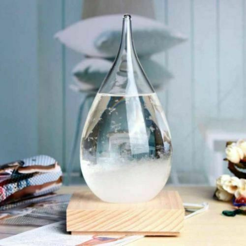 Weather Forecast Crystal Storm Glass Home Decor Water Drop Shaped Christmas Gift