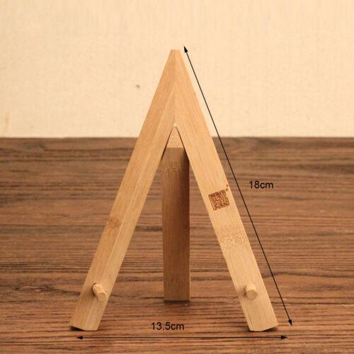 Bamboo Pu-Erh Tea Cake Stand Rack Tripod Storage Holder Table Display Holder