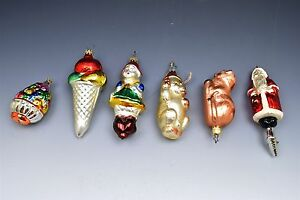 Details About Vintage Glass Christmas Tree Ornaments Inge Glas Old World Christmas 6