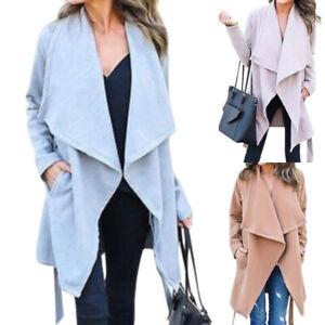 großer rabatt von 2019 Keine Verkaufssteuer aliexpress Details zu Strickjacke Damen Cardigan Mantel Jacken Wasserfall Warme  Wintermantel Outwear
