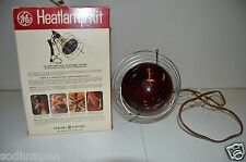 Nice Vintage GE Minty Heat Lamp Kit Clamp Cage Box Plant Growing Powerful Light