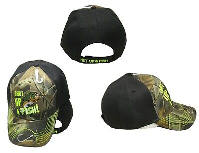 Fish Tremble At The Sound Of My Name Camouflage Embroidered Cap Hat CAP937