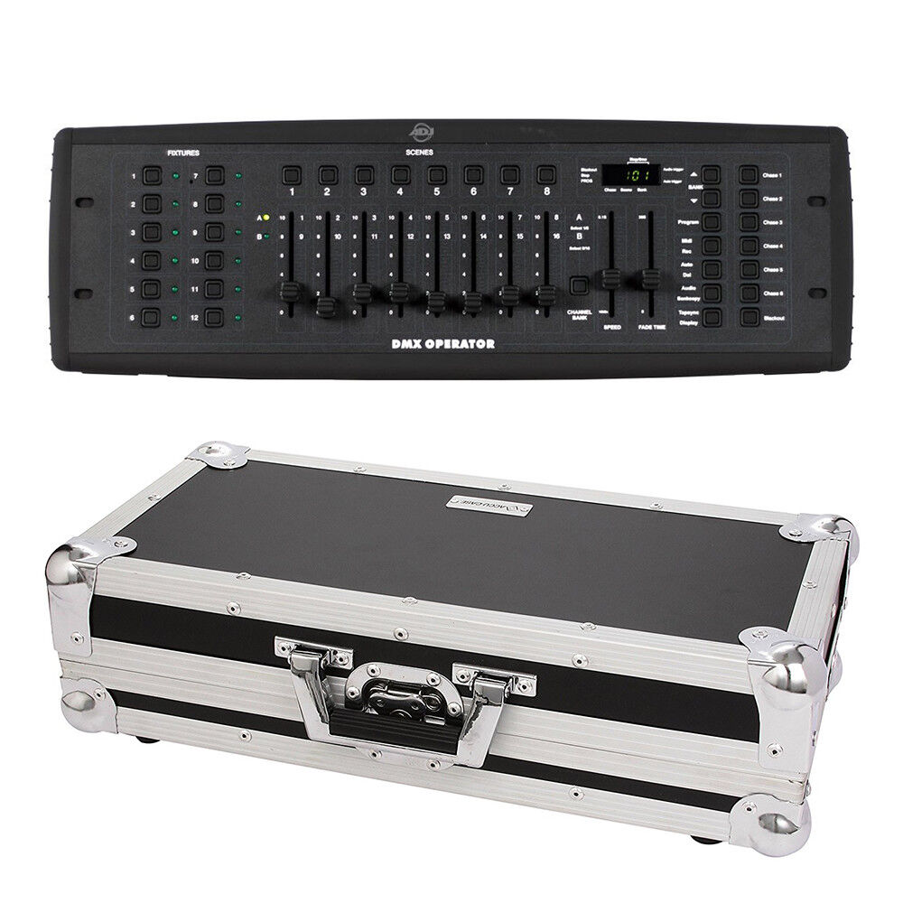 ADJ DMX Operator Controller und Flightcase DMX Lighting Desk (Bundle)