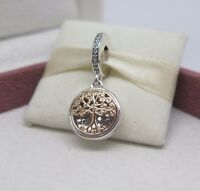 W/hinged Box Pandora 2 Tone Family Roots W/14 Kt Charm 791988cz Mother Mom on Sale