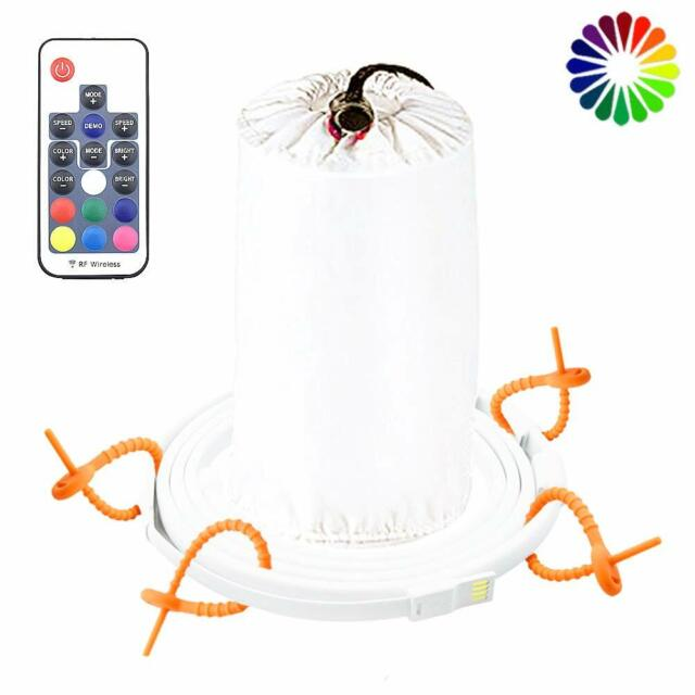 5ft Portable LED Rope Lights Lantern Strip String Linear Camping Hiking Flxible