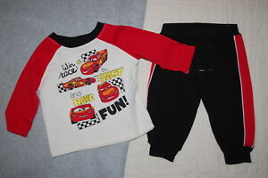0c79bb85f8393 Image is loading Baby-Boys-Outfit-DISNEY-CARS-Lightning-McQueen-L-S-T-