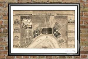 Old-Map-of-New-Orleans-LA-from-1817-Vintage-Louisiana-Art-Historic-Decor