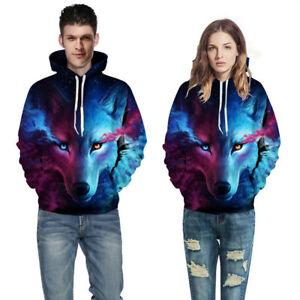 Women-Men-3D-Space-Galaxy-Printed-Wolf-Sweatshirt-Pullover-Hoodie-Sweater-Tops