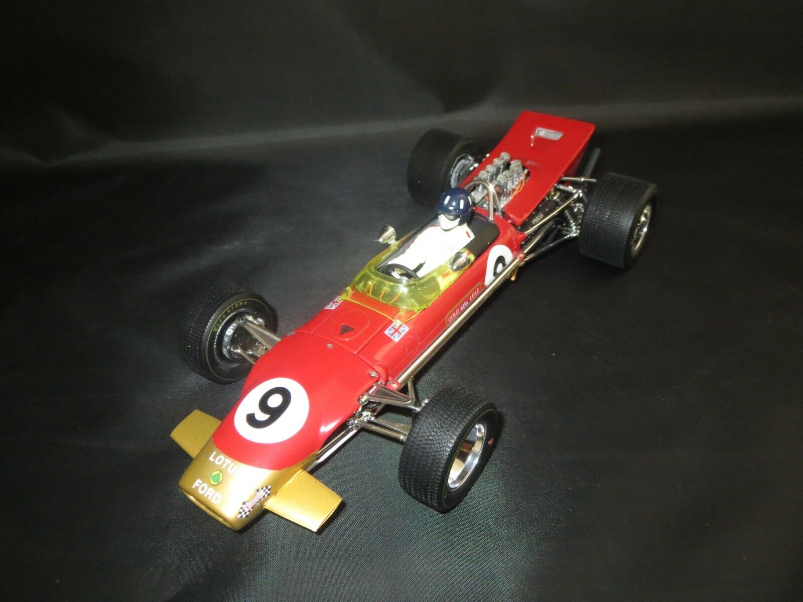 Exoto Motorbox Lotus-Ford Type 49b GP MONACO (G. Hill  9) 1 18 Sans VP.