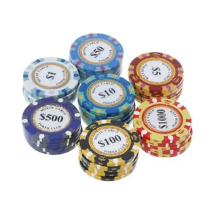 5pcs-Poker-Chips-Casino-Clay-Coins-14g-Texas-Hold-039-em-Baccarat-Card-Protector-4cm