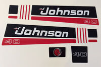 Johnson Outboard Hood Decals 2 Cyl 1991 40 / 50 Hp