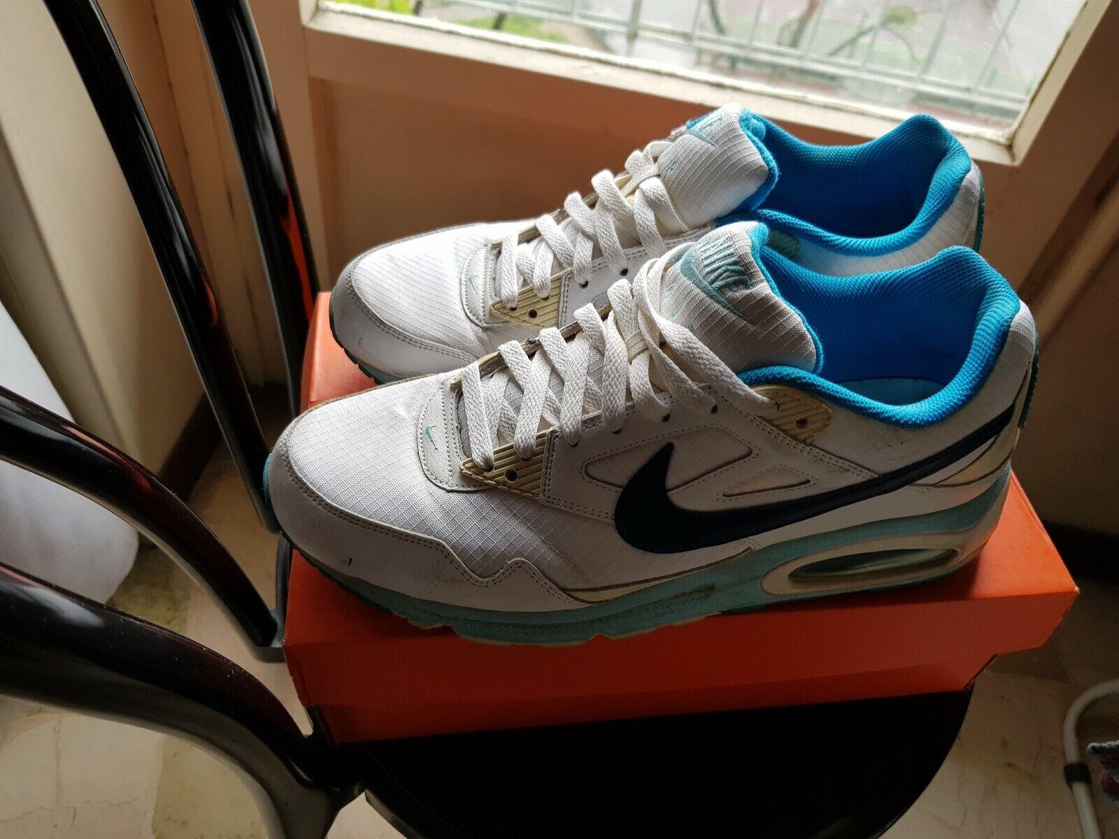 Nike Air Max 90 Essential White Tour Yellow Blue AJ1285 101