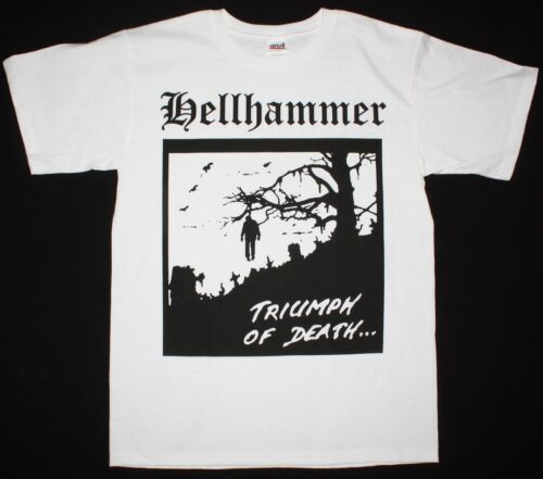 HELLHAMMER Triumph of Death demo Celtic Frost Coroner NEW T-shirt blanc