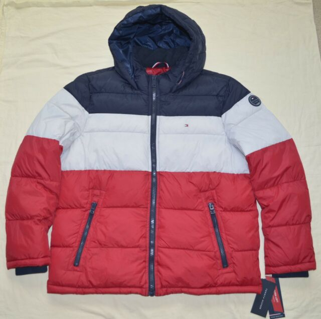 b9350ad52 XXL 2xl Tommy Hilfiger Mens Quilted Padded Puffer Winter Jacket Coat Red 2x