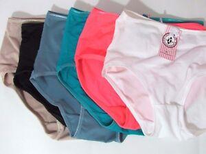 845eb9a158 Gray Beige Pink White Black Green Hot Pink Full cut Bikini Panties ...